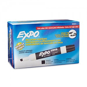 Expo-Low-Odor-Dry-Erase-Markers-Chisel-Tip-12-Pack-Black-80001-0
