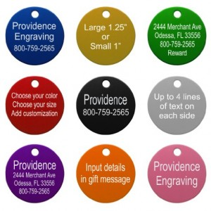 Pet-ID-Tags-8-Shapes-Colors-to-Choose-From-Dog-Cat-Aluminum-0-0